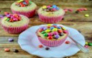 Bananen-Schoko-Muffins-Smarties